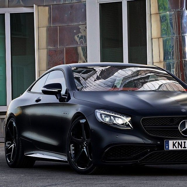 Mercedes benz s63 amg coupe by knightluxury follow for Matte black mercedes benz