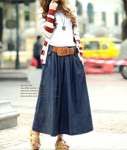 A-line jean dress -Casual Dresses Casual Dresses from stylishplus.com