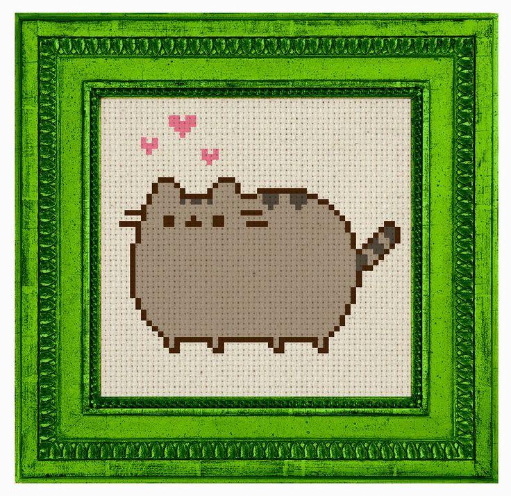 блюдо картинки по клеточкам котик пушин познакомиться