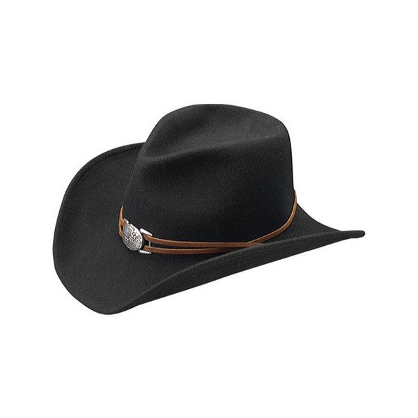 Women's Master Hatters of Texas Juniper - Black Cowboy Hats ($56) ❤ liked on Polyvore featuring accessories, hats, black, band hats, western style hats, black hat, hat bands cowboy hats and black cowboy hat