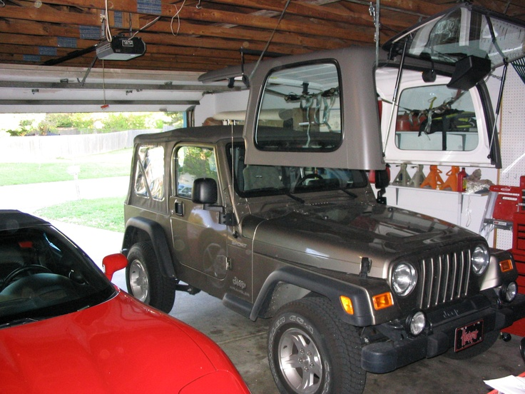 A Jeeped Out Garage For Babe, To Keep Him Outta My Hair -1286