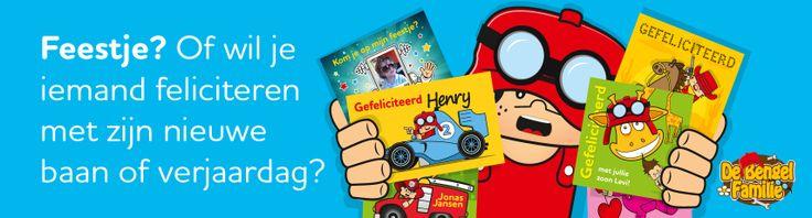Feestje? Of wil je iemand feliciteren mij zijn nieuwe baan? Kies dan uit één van de 150 kaartjes van De Bengel Familie! http://www.kaartje2go.nl/kaart-zoeken/bengels