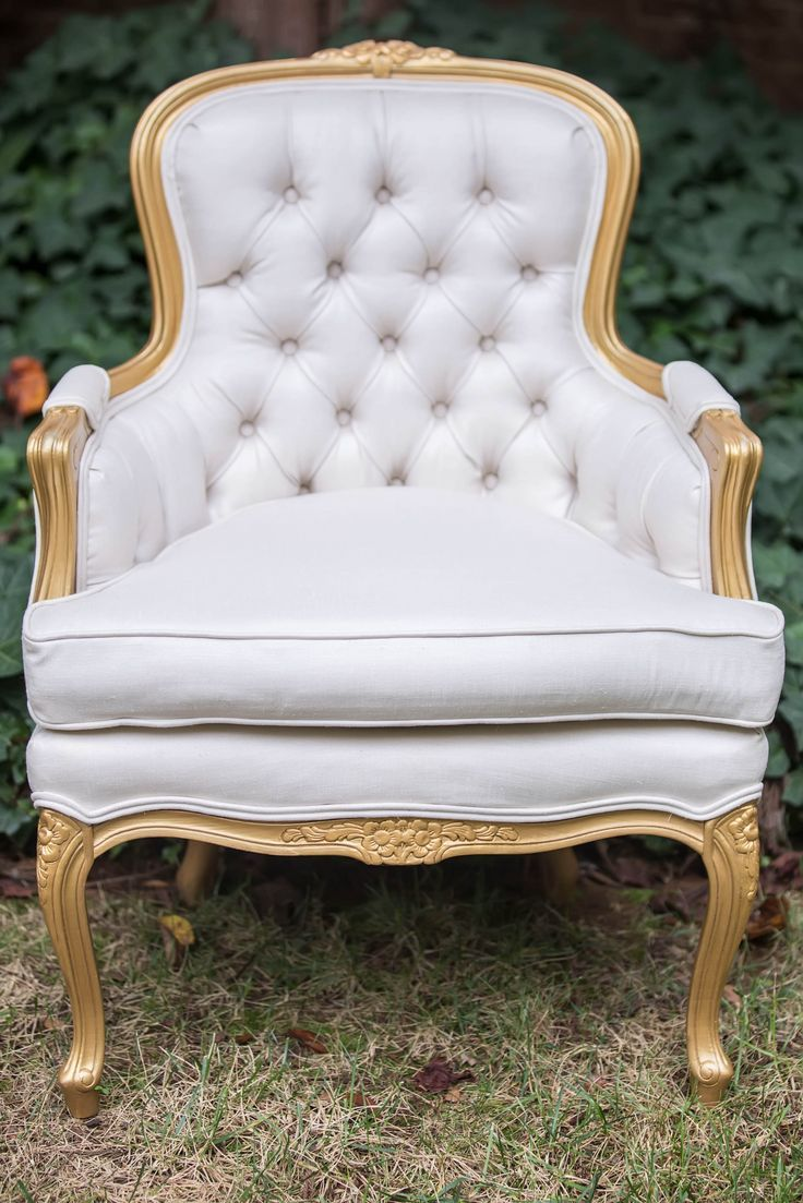 Vintage Furniture Stunning Gold And Ivory Seat Vintage Furniture Rental Furniture Furniture