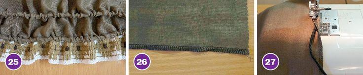 Настрочные складки, вставки, отделка из вытачного шнура и тесьмы | pokroyka.ru-уроки кроя и шитья