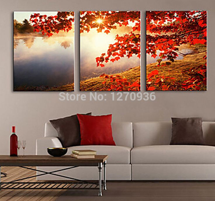 Cheapest Price High Quality Assured Old Master Hand Painted Autumn Sunrise Oil Painting on Canvas for Living Room Decoration