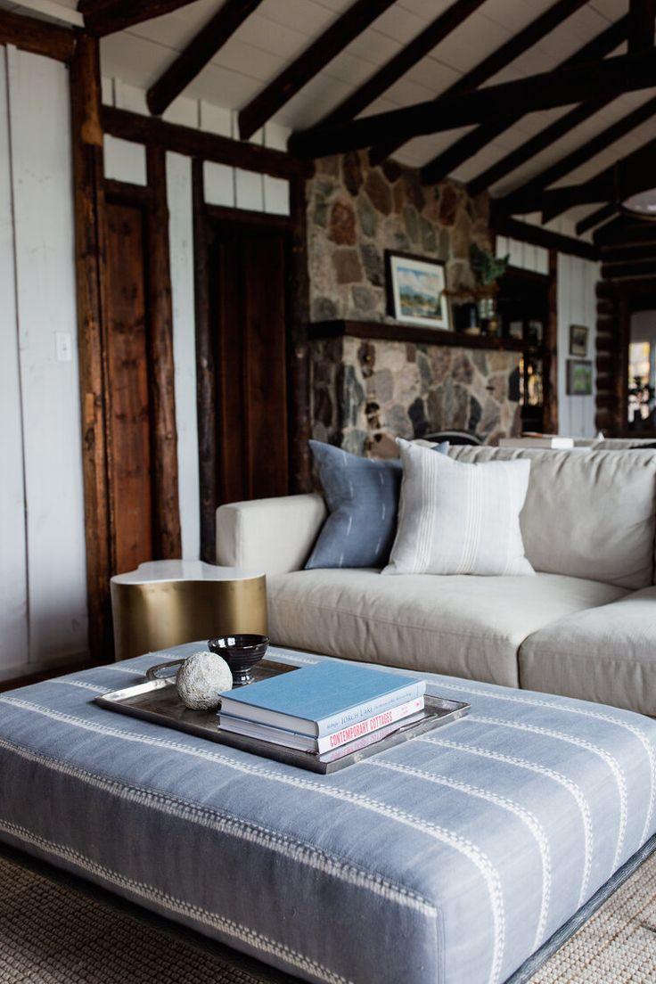 log cabin — jean stoffer design  rustic living room