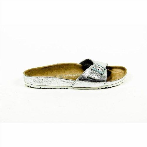 196.88$  Watch now - http://vifah.justgood.pw/vig/item.php?t=6a2wcb10147 - Silver 40 EUR - 10 US Birkenstock Womens Flat Sandal MADRID 43928