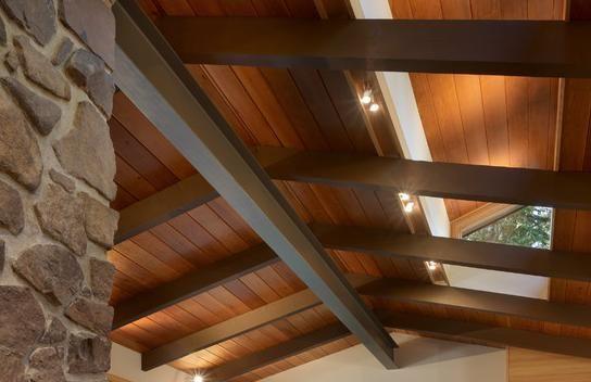 Casas techos vigas met licas machimbre buscar con - Vigas de madera para techos ...