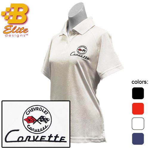 This ladies C1 Corvette ladies polo shirt is manufactured to perform. With its' breakthrough features of moisture wicking and anti-microbial technology as well as the easy care of 100% polyester, it is a favorite among all other Corvette shirts for women. This performance polo shirt is available in sizes Small, Medium, Large, X Large, and …