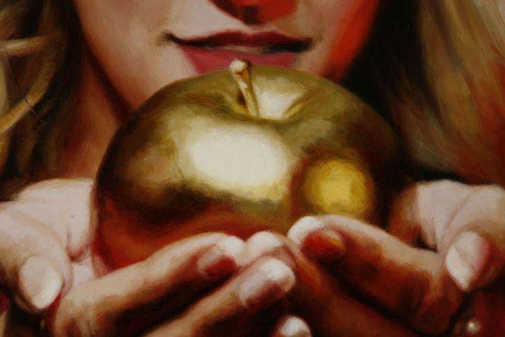 Terry Strickland Art: Golden Apples and Blues Eyes