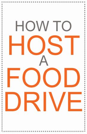 Food drives, big and small, are a great way to get involved in your community and lend a hand to your local food bank. This could be a great thing to do for a movie night, raise money/food for a charity and see all your lovely friends!