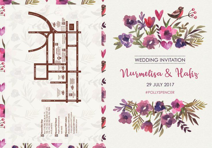 Wedding Invite : Melisa & Hafiz