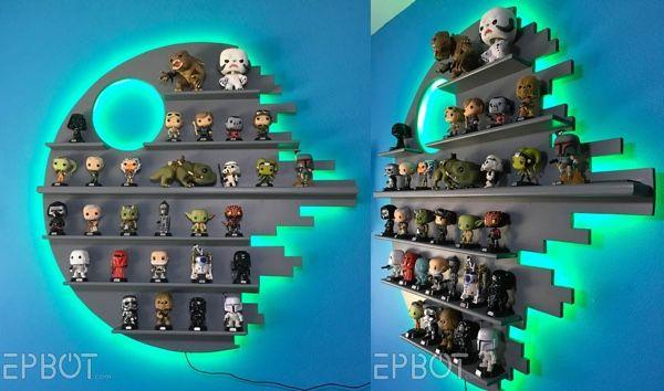 DIY Color-Changing Death Star Figure Shelf