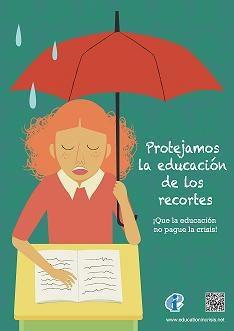 """En defensa de la Educación Pública de Calidad: Esperanza Aguirre reduce a un tercio las becas de comedor y pretende responsabilizar a los maestros de la implantación de la """"tasa tupper""""."""