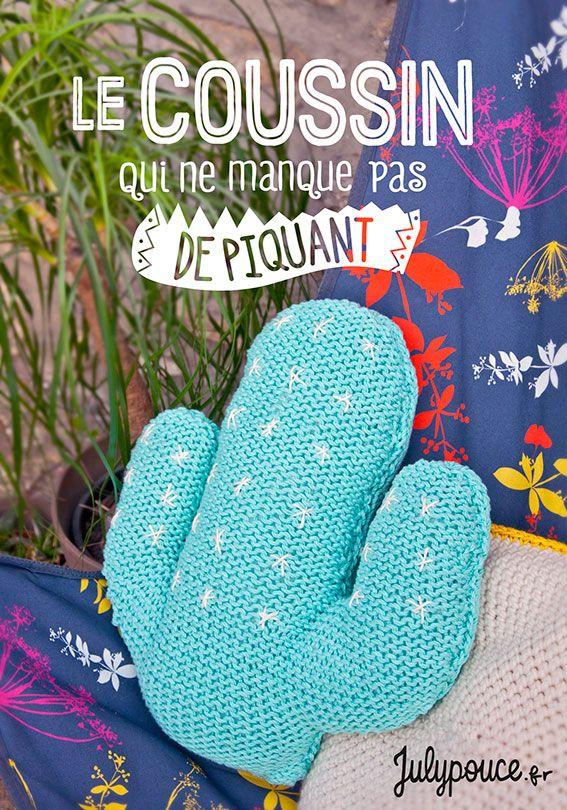 Craft Lovers ♥ Le coussin cactus par @julypouce