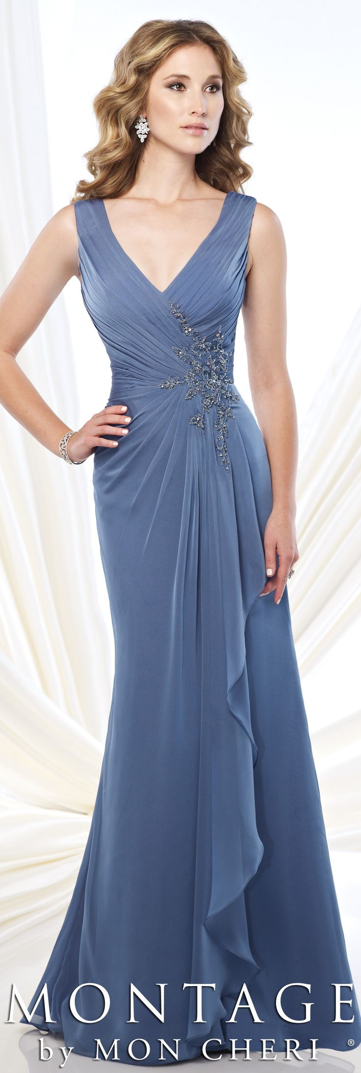 Montage by Mon Cheri Fall 2015 - Style No. 215907 #motherofthebridedress