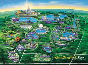 "Traveling Around the ""World"" Disney-World-Map-Orlando – Diswhiz.com"