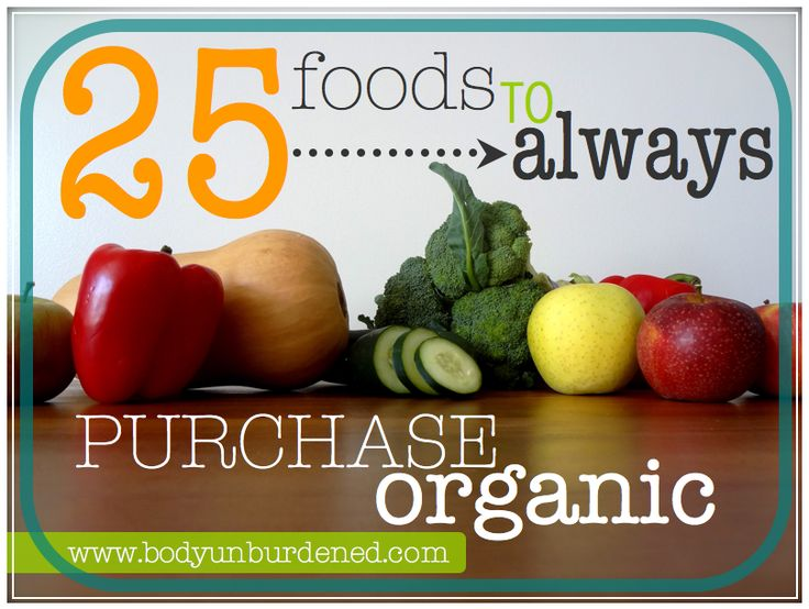 25 foods to ALWAYS purchase organic
