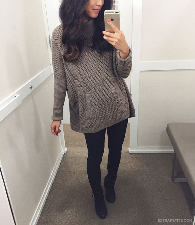 Fall reviews: cozy casual petite sweaters (on sale today)