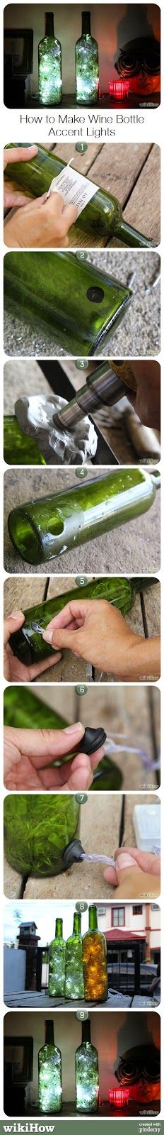 How to Make Wine Bottle Accent Lights