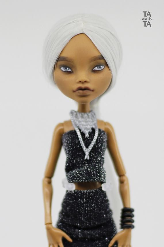 Ooak Monster High Clawdeen Wolf Repaint Custom Fashion Doll Diva