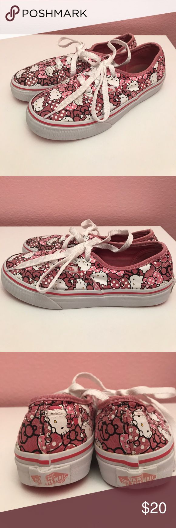 Hello kitty vans Gently used hello kitty vans. These were a limited addition design. Very cute. There is somewhere as shown. Overall in excellent condition! Absolutely cute and comfortable! Vans Shoes Sneakers
