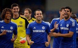 Chelsea. Diego Costa. Fabregas. Thibaut Courtois
