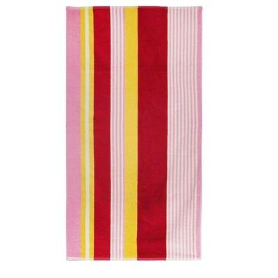 Textiles Plus Inc. Velour Multi-Colored Stripe Beach Towel - BT3464 M