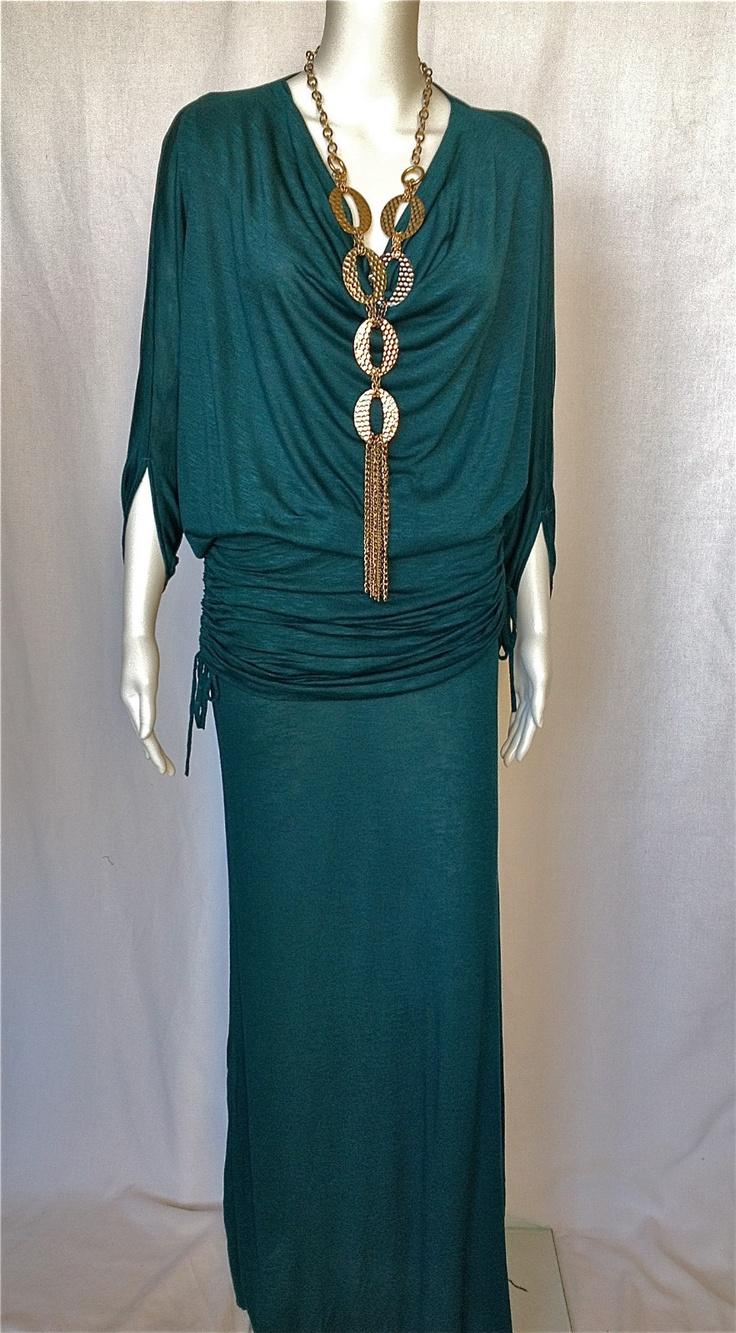 elan resort 2013 maxi skirt or matching drape neck