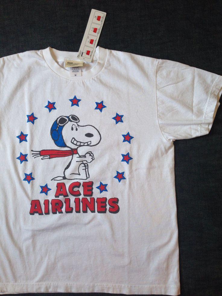 バディからピーナッツのスヌーピーTシャツ エース エアーラインTシャツが入荷しました。本体価格¥3,800