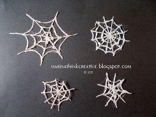Ragnatele scintillanti per Halloween in dieci minuti