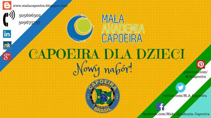 Trwa nowy nabór do Małej Akademii Capoeira! Zapraszamy dzieci w wieku 4-6 lat oraz 7-12 lat! Pierwszy trening gratis! :)