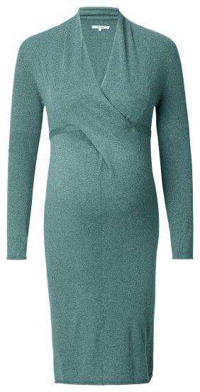 Γυναικείο Μακρυμάνικο Φόρεμα Εγκυμοσύνης NOPPIES - πράσινο
