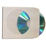 100 Paper CD Sleeves with Window & Flap (Electronics)By Square Deal Recordings & Supplies