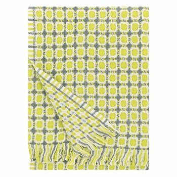 Lapuan Kankurit Grey/Pear Corona Lamb's Wool Blanket - Click to enlarge