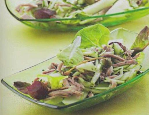 Китайская кухня салат с языком и огурцом рецепт
