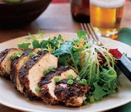 #Chicken dishes under 450 calories: Jerk Chicken #SelfMagazine #Healthy #Dinner