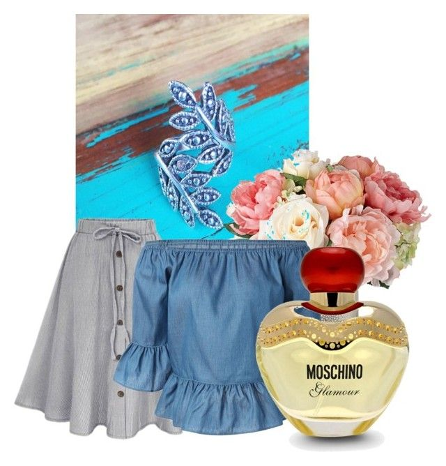 MAHIYA by mileypiters on Polyvore featuring Moschino