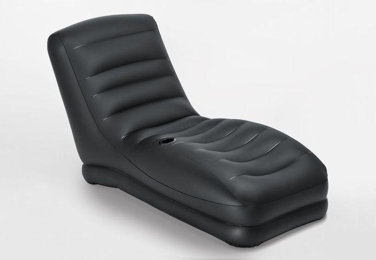 Intex Inflatable Mega Air Lounge Living Door Room Lounger, Black | 68585EP #Intex