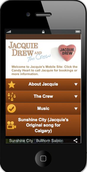Mobile emulator picture of Jacquie Drew and the Crew a Calgary based Country Band made my Localmobileze http://localmoibileze.com