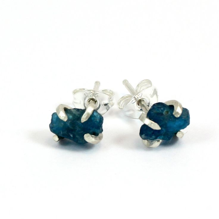 Pretty Birds Creations - Teal Apatite Studs