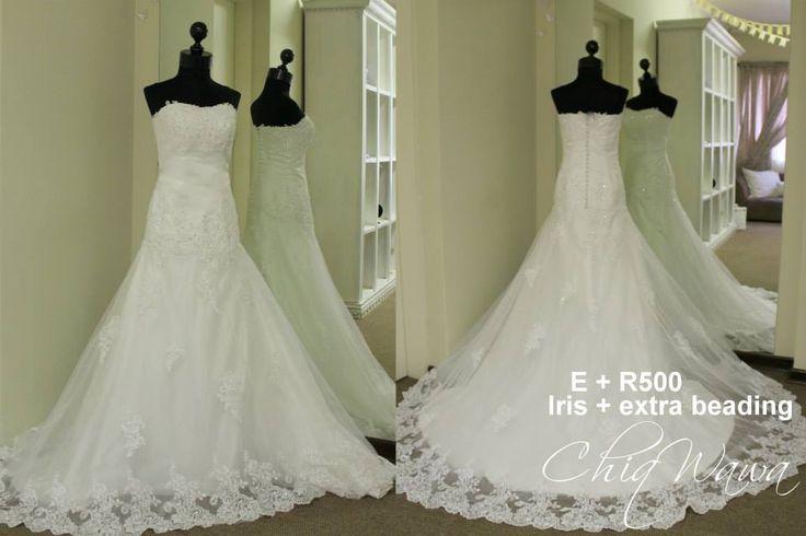 ChiqWawa Iris Wedding Dress lace appliques with glass beading on tulle <3 info@Chiqwawa.co.za Pretoria, South Africa