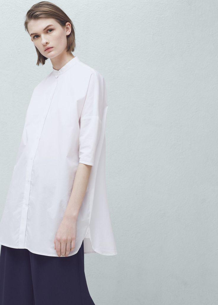 Poplin shirt - Shirts for Women | MANGO USA
