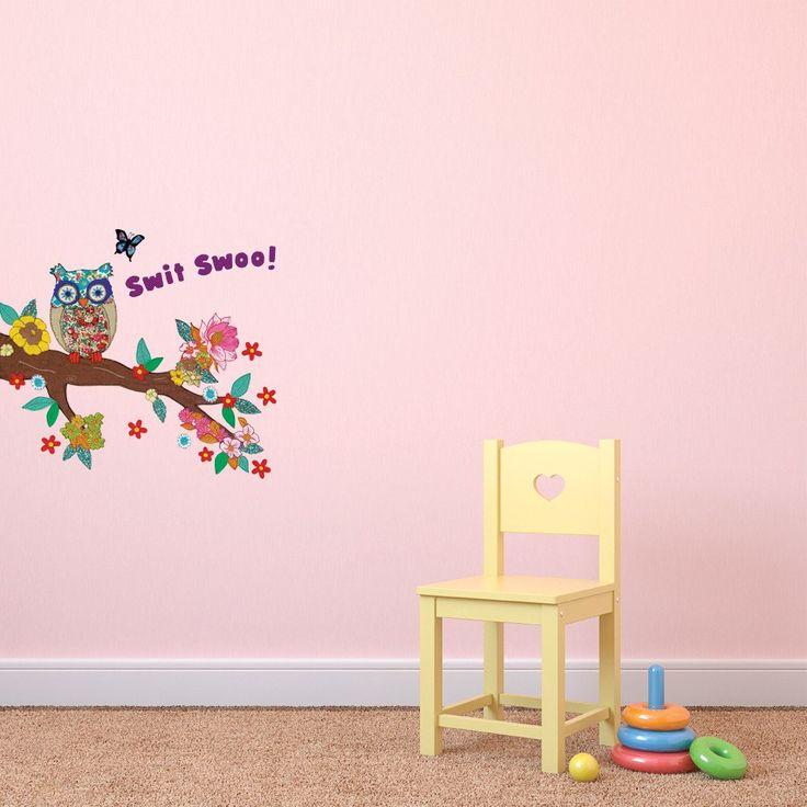 Swit Swoo Owl Childrens Wall Sticker