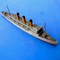Empress of Asia cruiser miniature model ship