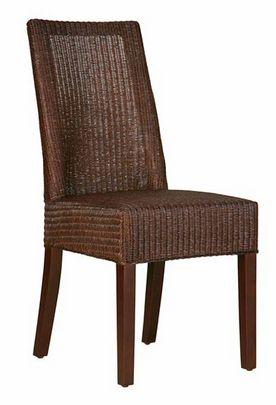 Lloyd Loom Dining Chair Chocolate Brown - £293.00 - Hicks and Hicks