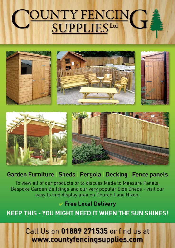 county fencing supplies flyer design  flyer