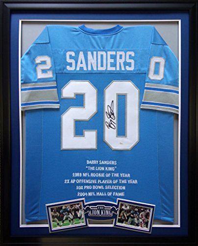 71ea76db6 ... Barry Sanders Framed Jersey Signed JSA COA Autographed Detroit Lions  Mister Mancave http ...