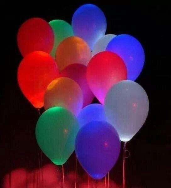 Glow sticks in balloons