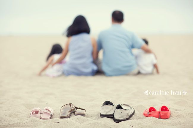 This would be good using what ever the family does together in focus as the prop with the family out of focus